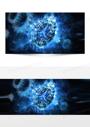 现代大气炫酷舞动机械钟表淘宝海报背景