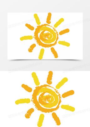 卡通手绘精美太阳