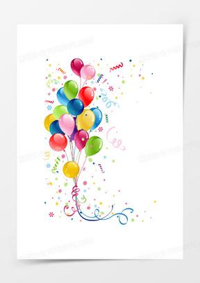 节日礼花和气球