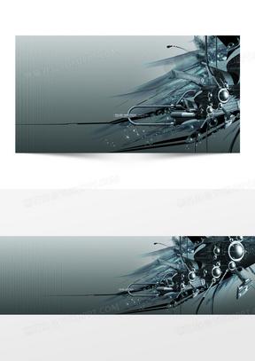 霸气机械banner创意广告