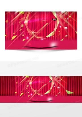 几何 淘宝双11全屏促销海报设计PSD素材