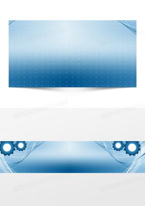 机械工业齿轮背景banner