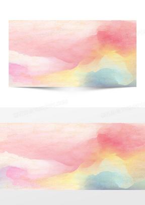 水彩渲染彩色背景
