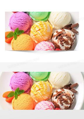 甜品冰淇淋球背景banner