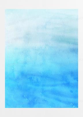 清新海底世界手绘水彩背景