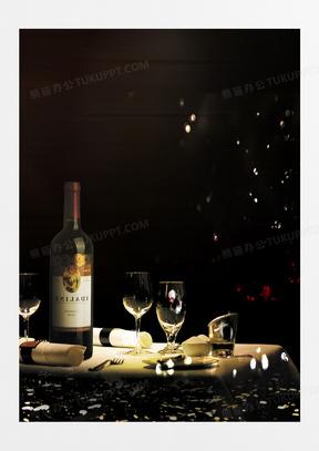 高端奢华红酒背景素材