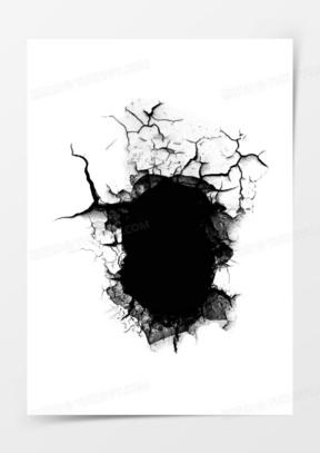 黑色破洞素材