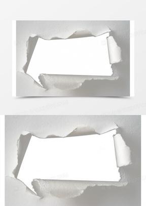 纸板破洞效果