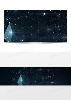 几何线条星空背景海报