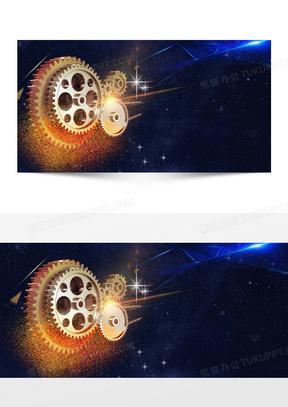 企事业机械齿轮背景