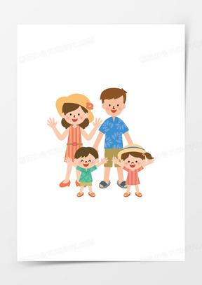 手绘卡通小人素材卡通小人 卡通一家人