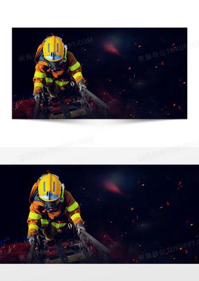 消防员消防安全知识宣传海报背景素材