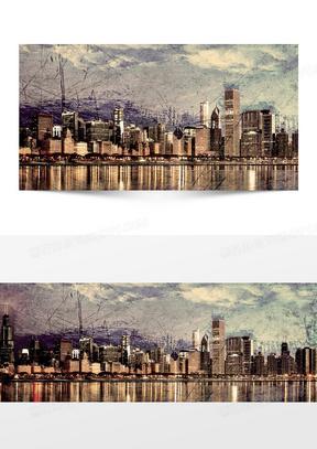 欧美风格建筑背景