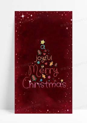 圣诞节日贺卡背景