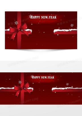 圣诞节贺卡红色背景