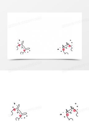 卡通图标矢量图可爱卡通图标素描  卡通手绘花枝