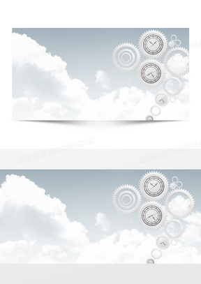 科技机械齿轮banner