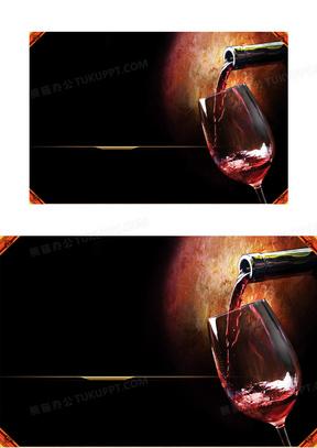 奢华复古红酒广告背景素材