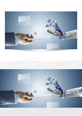 机械科技电子科技科幻蓝色海报背景