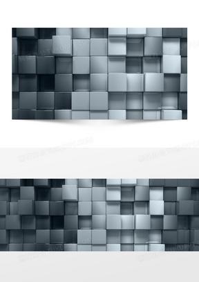 几何科技感方块马赛克科技感海报