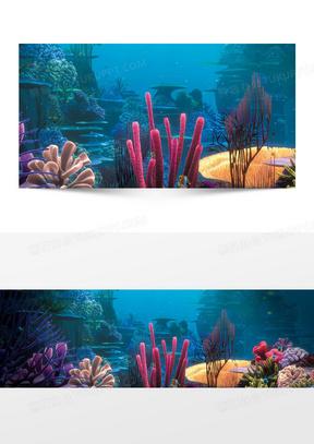 海底世界卡通背景