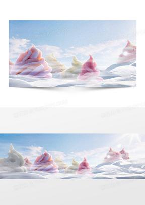 冰淇淋背景