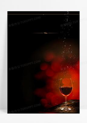 红酒广告红黑印刷背景