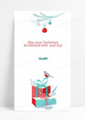 简约圣诞节圣诞快乐圣诞贺卡H5背景