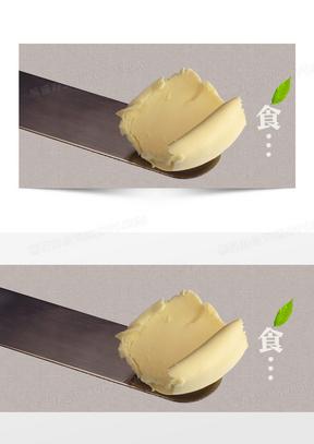 美食黄油乳酪奶油冰淇淋美味背景