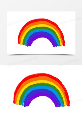 漫画可爱  卡通手绘彩虹