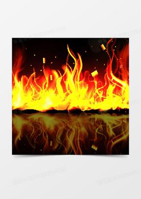 火焰激情狂欢主图背景