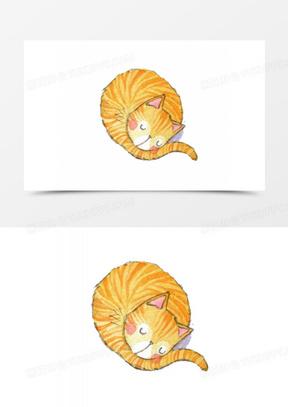 卡通动物可爱卡通  卡通手绘小猫咪