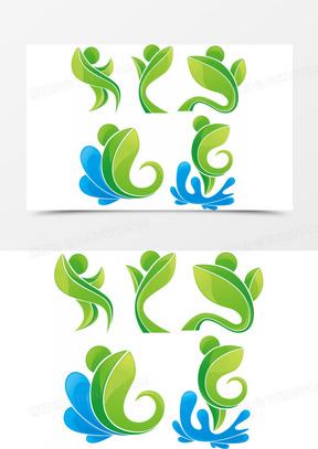 抽象人物logo