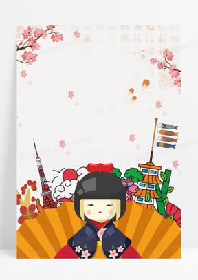 日本亚洲国际留学旅游宣传海报背景素材