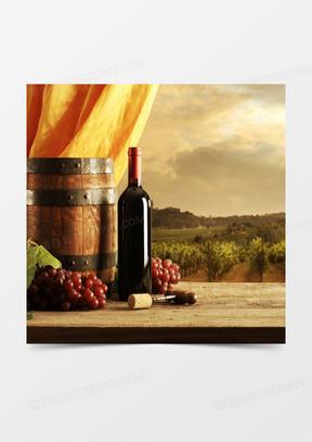 欧式复古红酒广告背景