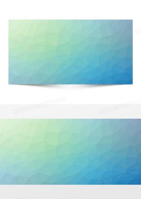 几何渐变蓝绿海报背景