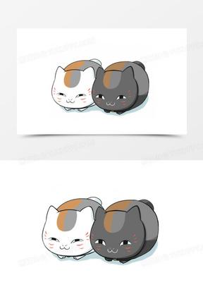 卡通动物卡通装饰 卡通小猫咪