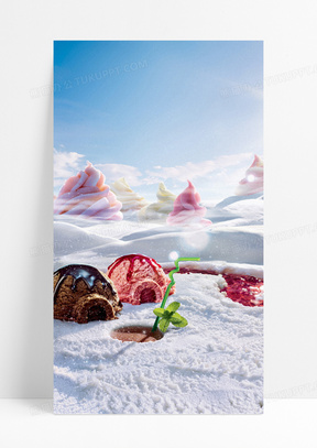 梦幻冰淇淋H5背景