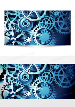 机械齿轮科技背景