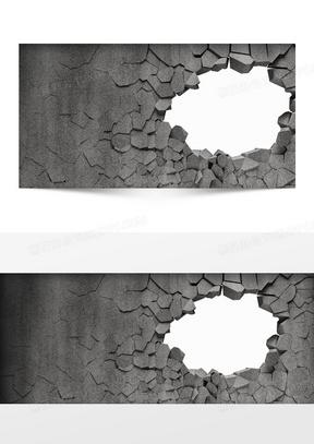 碎墙破洞纹理背景