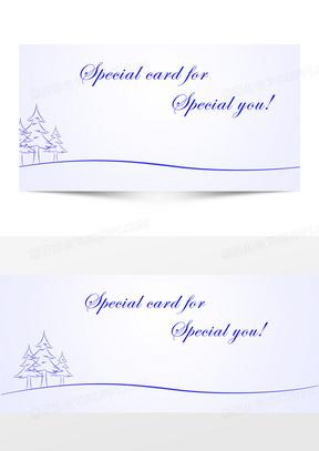 简约线条圣诞节背景