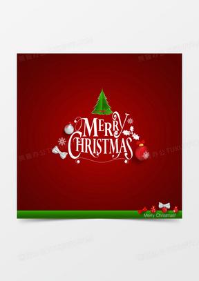 圣诞节可爱红色圣诞树背景素材