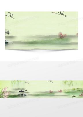 中国风古风banner背景