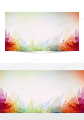 简约彩色几何海报PSD背景素材