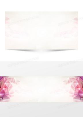 春季几何浪漫粉色海报banner背景