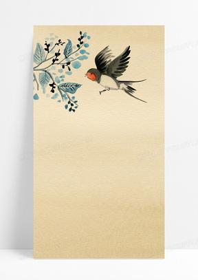 亚洲花鸟羊皮纸