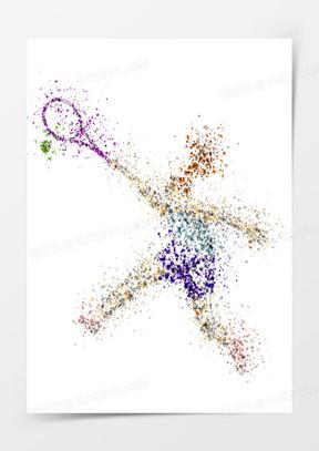 打网球的矢量人物