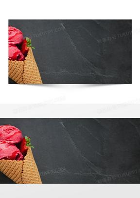一个红色冰冰淇淋图片