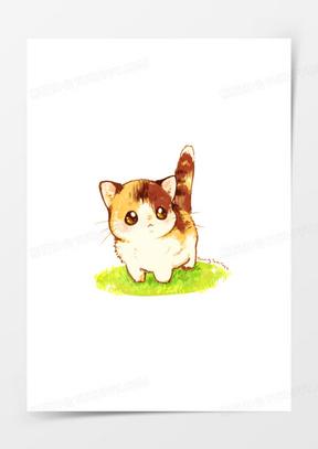 卡通元素卡通图片 卡通手绘小猫