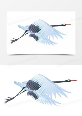 卡通虫鸟卡通动物素材  卡通手绘丹顶鹤